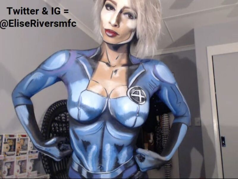 Body paint costume cam show