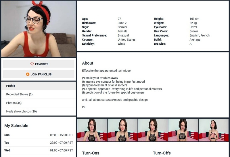 Model profiles on FireCams include everything from features to turn offs and ons