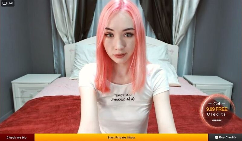 LiveJasmin pink haired russian chick