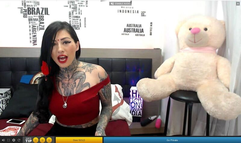 Streamate tattooed BDSM cam girl